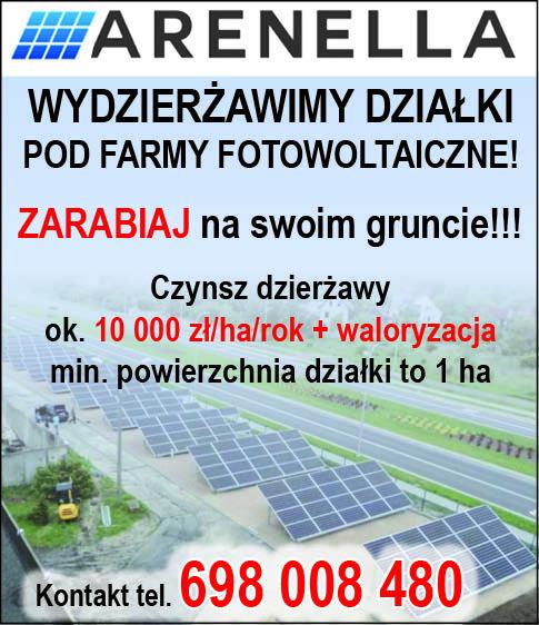 Oferta dzierżawy działek pod farmy fotowoltaiczne